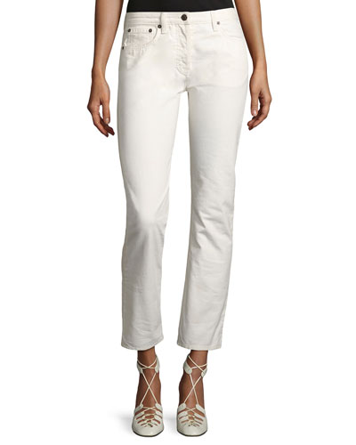 Ashland Slim-Leg Ankle Jeans, White