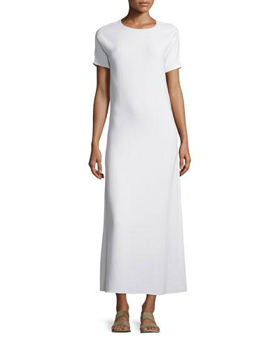 Statell Short-Sleeve Dress, White