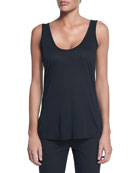 Thomaston Scoop-Neck Tank, Black