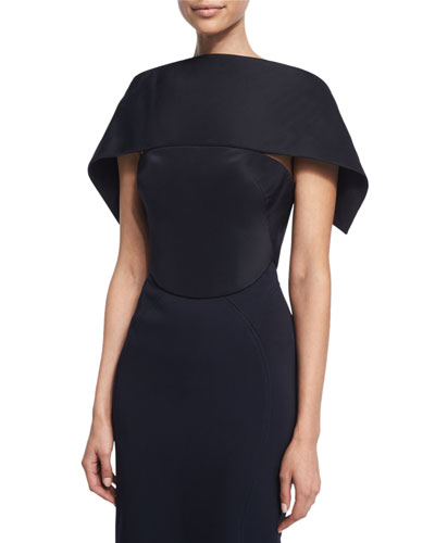 Over-The-Shoulder Wrap Top, Midnight