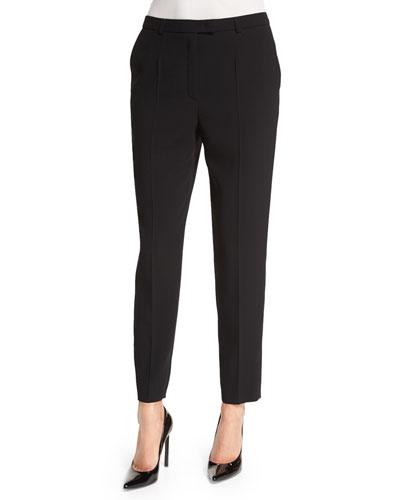 Talarant Slim-Leg Ankle Pants, Black