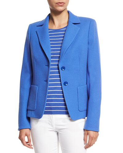 Two-Button Terry Jacket, Heather