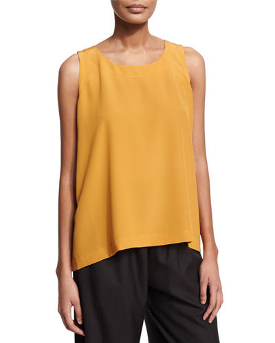 Round-Neck A-Line Shell, Turmeric