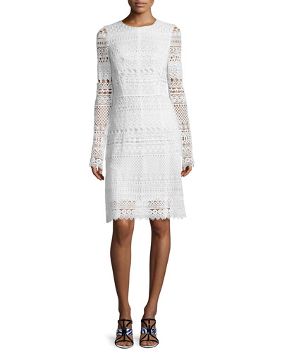Long Sleeve Sheath Dress | Neiman Marcus