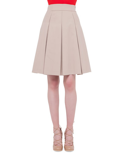 Inverted-Pleat A-Line Skirt, Cord