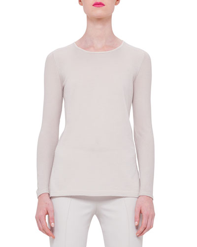Long-Sleeve Cashmere Tunic, Ranunculus