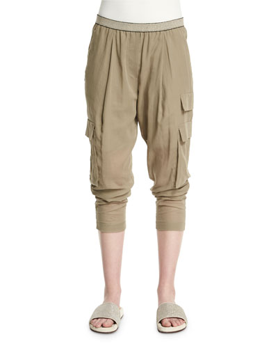 Safari Tapered-Leg Pants, Green Tea