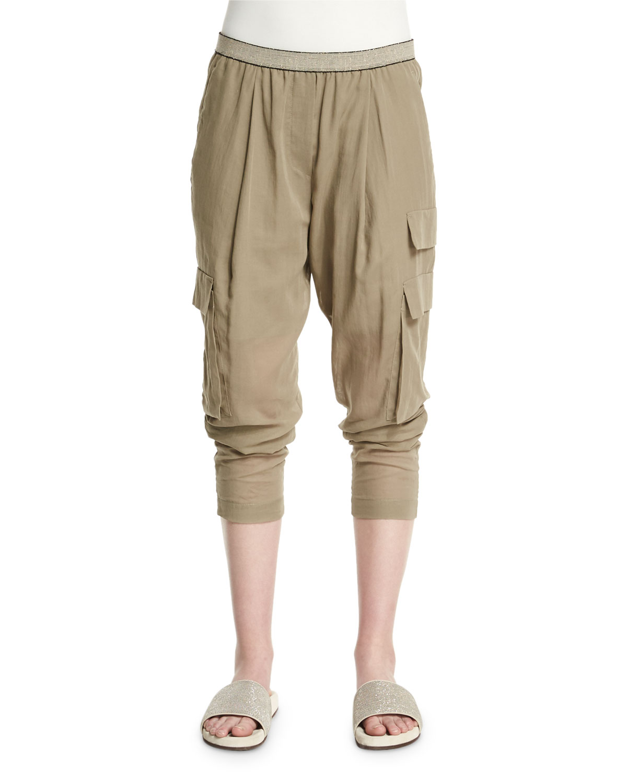 Safari Tapered-Leg Pants, Green Tea