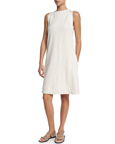 Felpa A-Line Shift Dress, Butter
