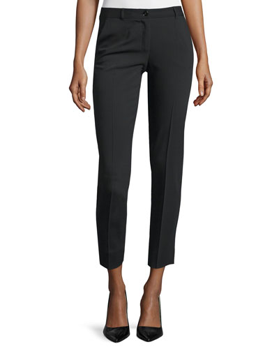 Mid-Rise Skinny Cropped Pants, Black