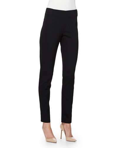 Catherine High-Waist Skinny Pants, Black