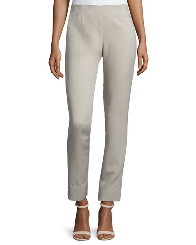 Catherine High-Waist Skinny Pants, Gray