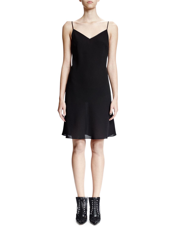 Sleeveless Slip Dress, Black