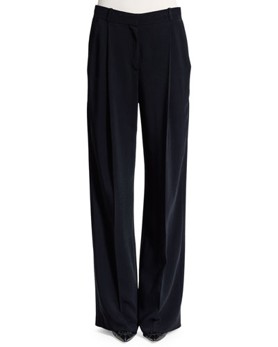 Star Wide-Leg Pants, Black