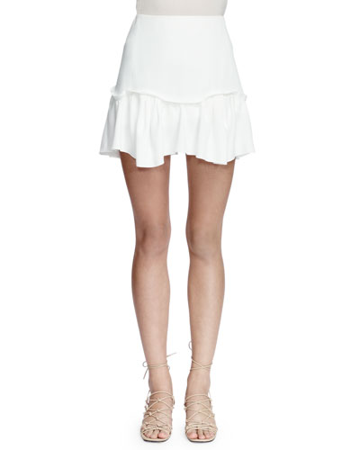 Easy A-Line Mini Skirt, Milk