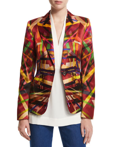 L.A. Lights Printed Jacket, Multi Colors