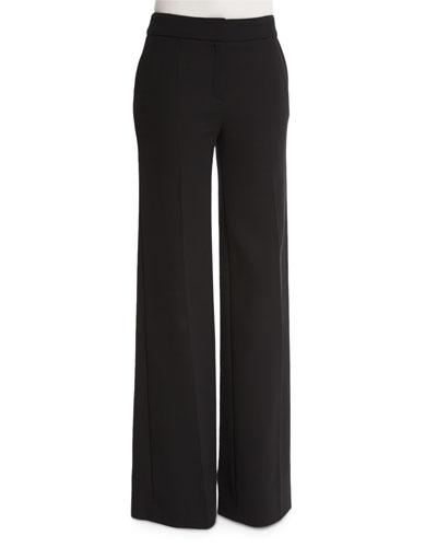 Tanjanatu Wide-Leg Pants, Black