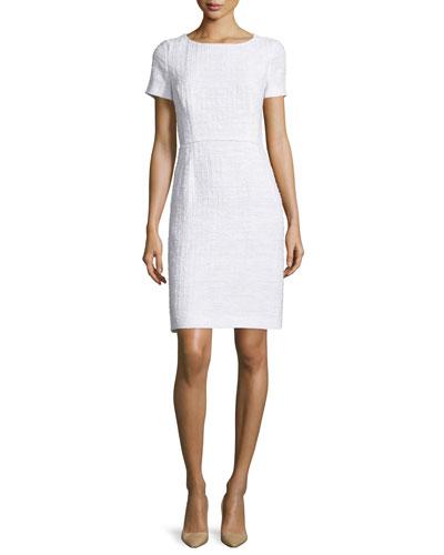 Short-Sleeve Sheath Dress, Frost