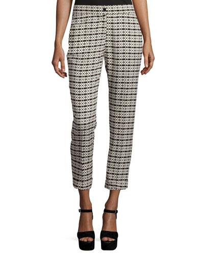 Tetrus Straight-Leg Capri Pants, Black/Olive