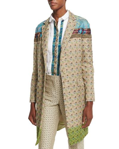 Vintage Ombre Tapestry Jacket, Beige