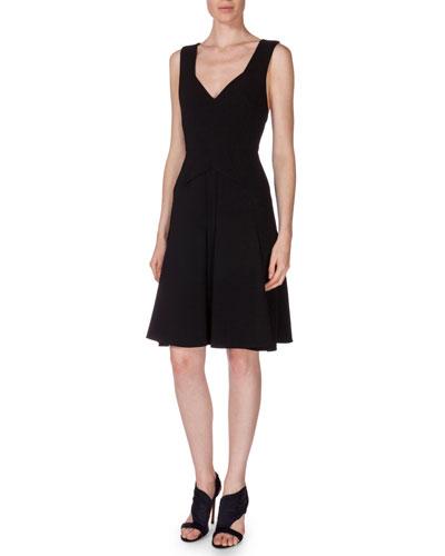 Miller Sleeveless Dress W/Cutouts, Black