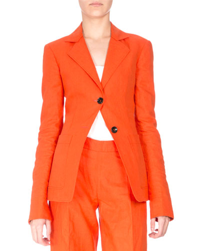 Elbow-Patch Two-Button Blazer, Sunset