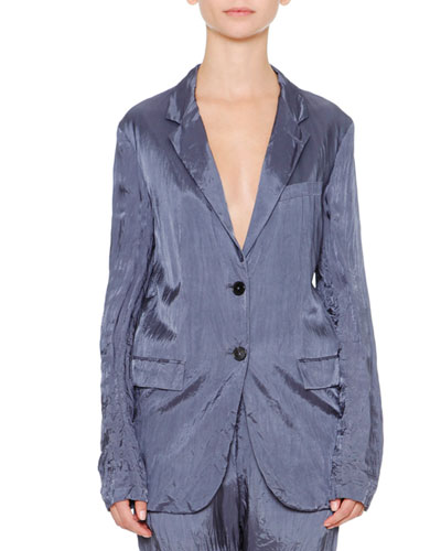 Artaud Two-Button Jacket, Slate Blue