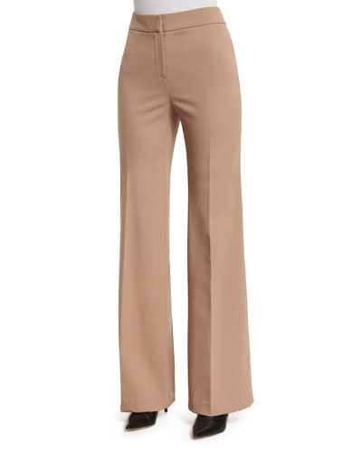 Georgia Flare-Leg Pants, Camel