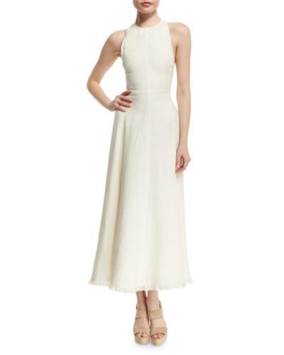 Rosalyn Racerback Midi Dress, Cream