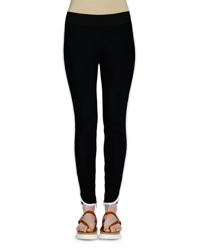 Tabatha Contrast-Stripe Pants, Black