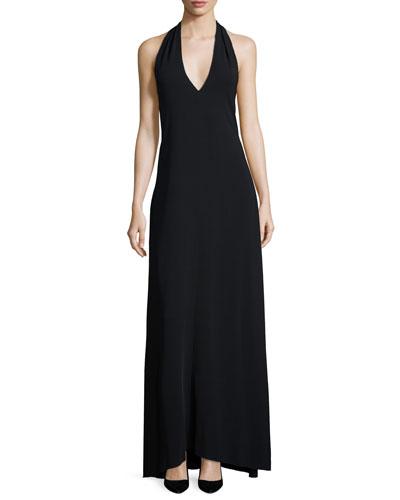 Lili Halter-Neck Dress, Black
