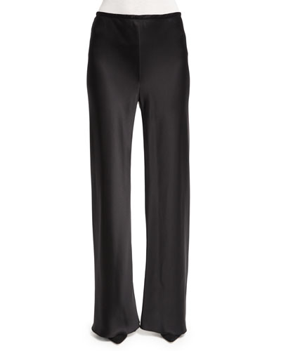 Gala Straight-Leg Pants, Black