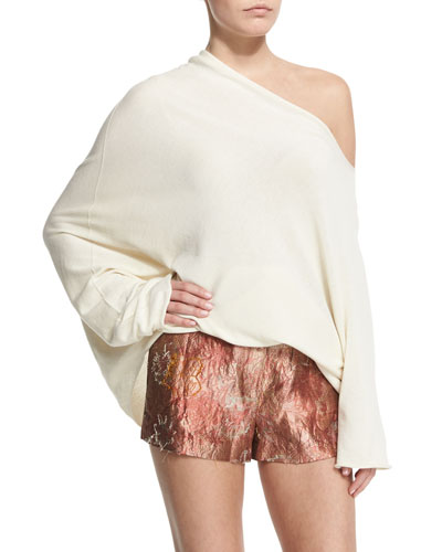 Nandac Off-The-Shoulder Oversized Top, Old Lace