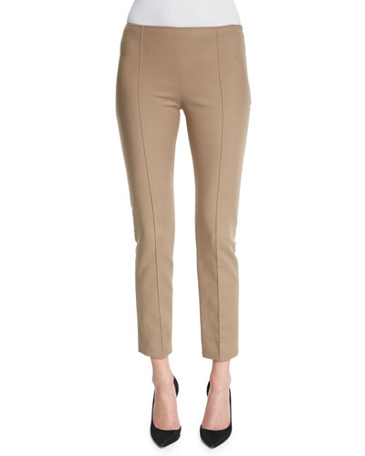 Soroc Mid-Rise Skinny Cropped Pants, Sepia
