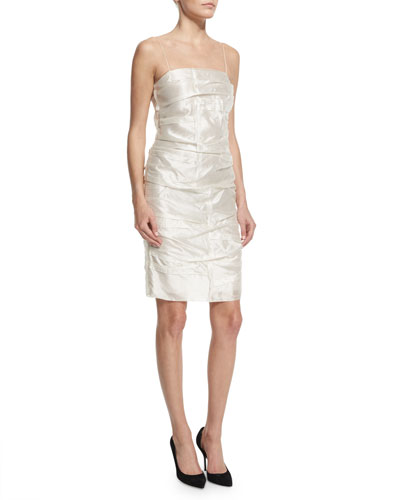 Sander Sleeveless Sheath Dress, White