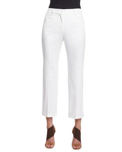 Slim-Boy Cropped Pants, White