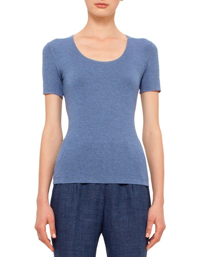 Short-Sleeve Scoop-Neck T-Shirt