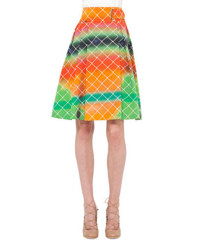 A Line Cotton Skirt | Neiman Marcus