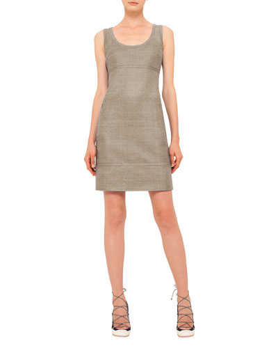 Scoop-Neck Sleeveless Sheath Dress, Cord