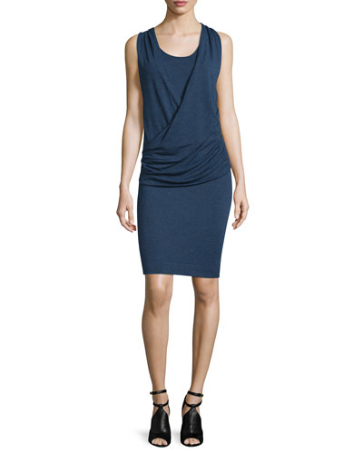 Janey Sleeveless Ruched Sheath Dress