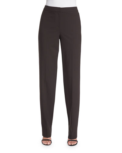 Diana Modern Stretch Straight-Leg Pants, New Mahogany