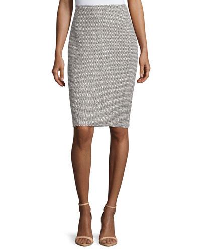 Moorisha Knit Pencil Skirt, Dark Putty