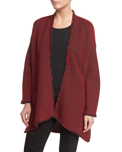 Punto Riso Knit Artisan Jacket, Paprika/New Mahogany
