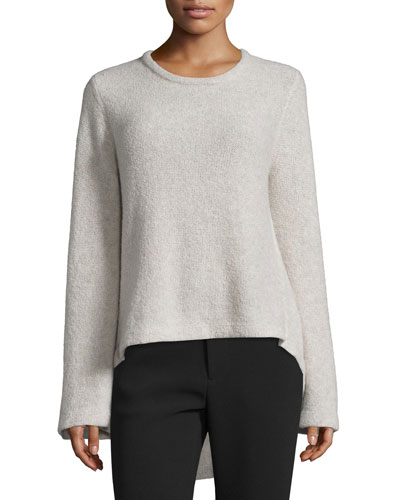 Long-Sleeve High-Low Sweater, Hazel