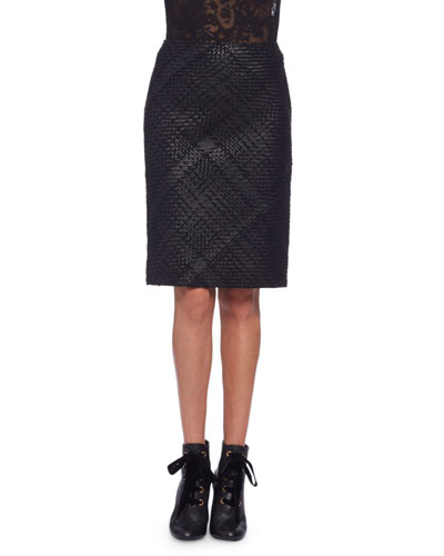 Leather Pencil Skirt | Neiman Marcus