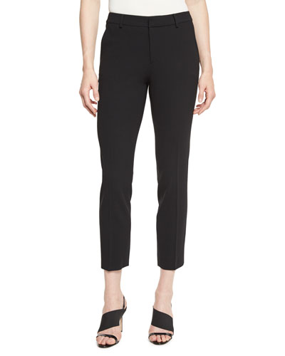Heidi Straight-Leg Ankle Pants, Black