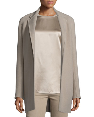 Addison Open-Front Jacket, Taupe