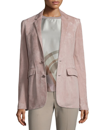 Yvette Two-Button Jacket, Rose