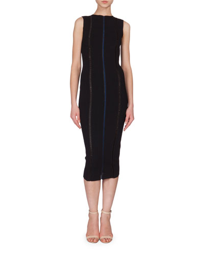 Front-Stripe Sheath Dress