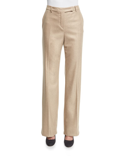 Lawrence Straight-Leg Trousers, Soft Sand Camel